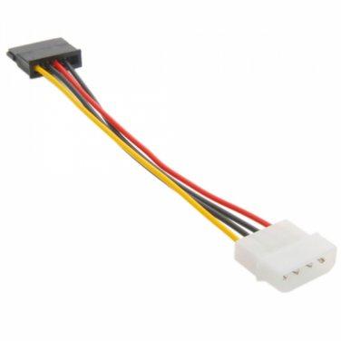 4 Pin IDE to 15 Pin Serial ATA SATA HDD Power Cable