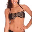 Cheetah Print Bandeau 2 Piece Bikini