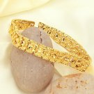 21cm Fashion Men Golden Bangle Jewelry 18K Gold Plated-Golden 69353
