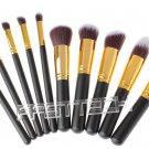 Wood Handle Makeup Brushes Set (10 Pieces) - 4030001