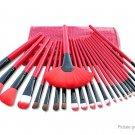 Artificial Fiber Makeup Brushes Set (24 Pieces) w/ PU bag - 5124000