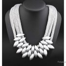 Women's Multilayer Waterdrop Shaped Beads Collar Necklace - 5666501
