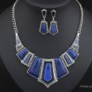 Geometric Polygon Resin Pendant Necklace Drop Earrings Set - 5647403