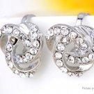 Multi-layer Crystal Beads Clip-on Ear Stud Earrings (Pair) - 5687300