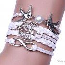 Infinity Tree Pigeon Women's Braided Bracelet - 5687500