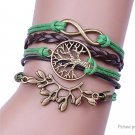 Tree Branch Women's Braided Bracelet - 5687502