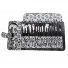 Makeup Brushes Set w/ Rose Styled Bag (18-Piece) - 2810302