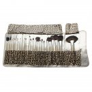 Makeup Brushes Set w/ Leopard Print Styled Bag (24-Piece) - 2810303