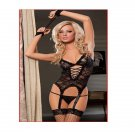 Women's Sexy See-through Lace Strappy Lingerie Set (Free Size) - 9298503