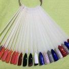 Fan-shaped False Fake Nail Art Tips Stick Display Practice Tool (50-Pack) - 4587303