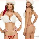 Women's Sexy Christmas Girl Bikini Temptation Lingerie Set (Free Size)  - 9495500
