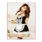 Women's Sexy Lace Maid Cosplay Temtation Lingerie Set (Free Size) - 9482500