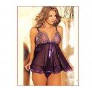 Women Sexy Lace Slip Baydoll Lingerie Set (SizeXL) - 9456601