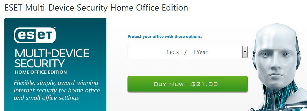 ESET Internet Smart Security 9 3 PCs 1 year