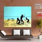 Cavemen Hunting Shopping Carts Banksy Graffiti Art Huge Giant Print Poster
