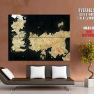 Game Of Thrones World Map Art Huge Giant Print Poster