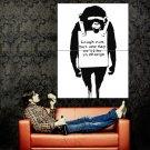 Monkey We Ll Be In Charge Banksy Graffiti Street Art Huge 47x35 Print POSTER