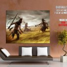 Native American Warriors Rifles Axes Art Indians Huge Giant Poster