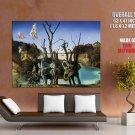 Salvador Dali Swans Reflecting Elephants Art HUGE GIANT Print Poster