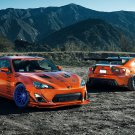 Toyota 86 Scion FR S Tuning Orange 16x12 Print Poster