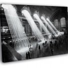 NYC Grand Central Station 1929 Retro New York 30x20 Framed Canvas Print