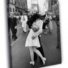 V J Day In Times Square Kiss New York City Old 50x40 Framed Canvas Print