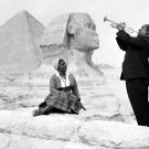 Louis Armstrong Wife Sphinx Pyramids Giza Egypt 1961 32x24 Wall Print POSTER