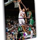 John Starks Dunk New York Knicks Basketball 50x40 Framed Canvas Print