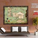 World Map Westeros Essos Game Of Thrones Giant Huge Print Poster