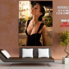 Eva Green Hot Sexy Seductive Black Dress Cleavage GIANT Huge Print Poster