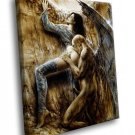 Luis Royo Fantasy Art Fallen Angel Demon 50x40 Framed Canvas Art Print