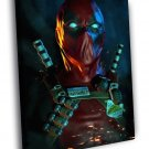 Deadpool Awesome Portrait Dark Amazing Art 30x20 Framed Canvas Print