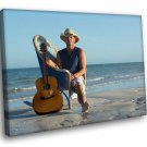 Kenny Chesney American Singer Guitar Country Music 30x20 Framed Canvas Art Print
