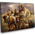 Indian Native American Horse Feathers 30x20 Framed Canvas Art Print
