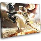 Allen Iverson Philadelphia 76ers Sixers Art Sport 40x30 Framed Canvas Print