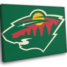 Minnesota Wild Logo Hockey Sport Art 50x40 Framed Canvas Print