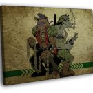Bebop And Rocksteady TMNT Classic Turtles 40x30 Framed Canvas Print