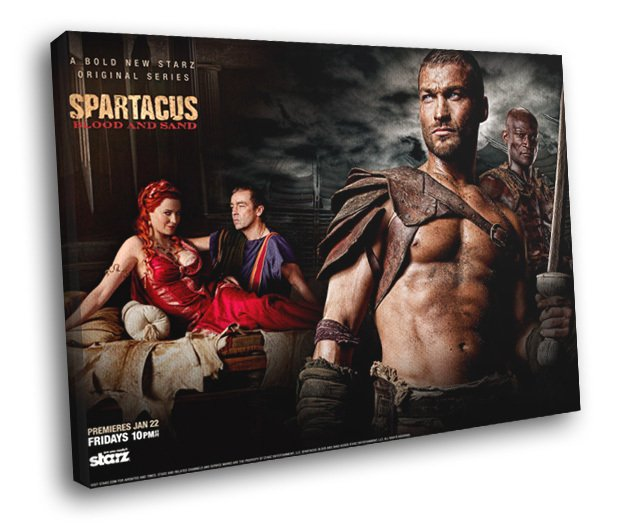 Spartacus Blood And Sand TV Series 50x40 Framed Canvas Print