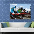 Thomas The Tank Engine Friends Cool Cartoon Art Kids HUGE 48x36 Print POSTER