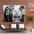Fleetwood Mac Blues Pop Rock Band Music BW Giant Huge Print Poster