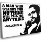 Malcolm X Quote 30x20 Framed Canvas Art Print