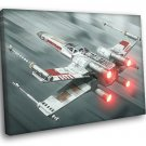 X Wing Starfighter Painting Artwork Star Wars 40x30 Framed Canvas Print