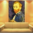 Vincent Van Gogh Post Impressionist Painter Self Potrait 47x35 Print Poster