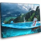 Far Cry 3 Beautiful Landscape Knife Water Game Art 50x40 Framed Canvas Print