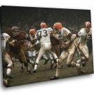 Jim Brown Cleveland Browns Classic Football Sport 40x30 Framed Canvas Print