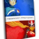 Megaman Proto Man Blues Rockman Mega Man Game 50x40 Framed Canvas Print