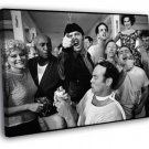 One Flew Over The Cuckoo S Nest Jack Nicholson 50x40 Framed Canvas Print