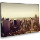 Manhattan Skyline Skyscrapers Buildings NYC 50x40 Framed Canvas Print