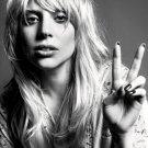 Lady Gaga Incredible BW Portrait Tear Beautiful Rare 32x24 Wall Print POSTER