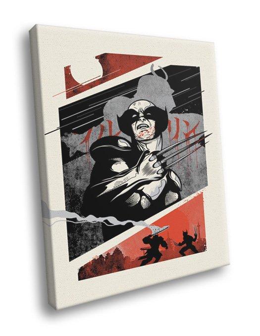 Wolverine Japanese Comic Cool Art Artwork 50x40 Framed Canvas Print